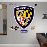 Baltimore Ravens Shield Logo Wall Decal