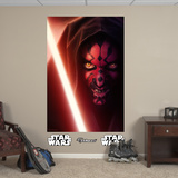 Star Wars Darth Maul Closeup RealBig Mural Wall Mural