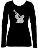 Womens Long Sleeve: Jazz Camisetas de manga larga para mujer