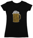 Womans: Beer V-Neck Shirts