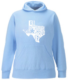 Womens Hoodie: Everything Is Bigger In Texas Pullover Hoodie