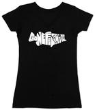 Womens: Bass - Gone Fishing V-Neck T-shirt con collo a V