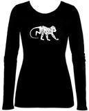 Women's Long Sleeve: Monkey Business Tshirt
