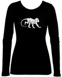 Women's Long Sleeve: Monkey Business T-shirts