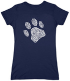 Womans: Dog Paw T-shirt