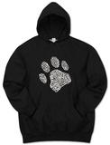 Hoodie: Dog Paw Pullover con cappuccio