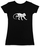 Womans: Monkey Business V-Neck T-shirts