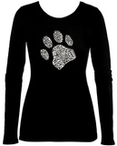 Women's Long Sleeve: Dog Paw Skjortor