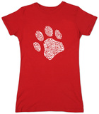 Womans: Dog Paw T-shirts