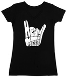 Womans: Heavy Metal V-Neck T-shirty