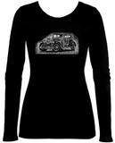 Women's Long Sleeve: Mob Car T-shirts