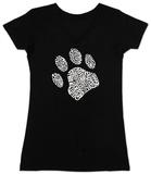Womans: Dog Paw V-Neck Camiseta