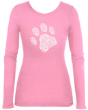 Women's Long Sleeve: Dog Paw Shirt