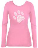 Womens Long Sleeve: Dog Paw Womens Long Sleeves