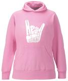 Womens Hoodie: Heavy Metal Pullover Hoodie