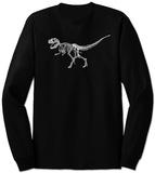 Long Sleeve: T-Rex - Bones T-Shirts