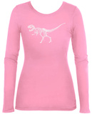 Women's Long Sleeve: T-Rex - Bones T-Shirt