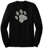 Long Sleeve: Dog Paw T-Shirt