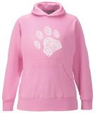 Womens Hoodie: Dog Paw Pullover Hoodie