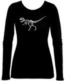 Women's Long Sleeve: T-Rex - Bones Tshirt