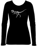 Women's Long Sleeve: T-Rex - Bones T-shirts