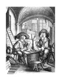 Le Tabac, 17th Century Giclee Print by Abraham Bosse