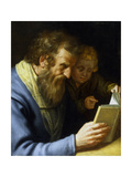St Matthew and an Angel, 1621 Giclee Print by Abraham Bloemaert