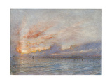 The Lagoons, Venice, 1910 Giclee Print by Albert Goodwin