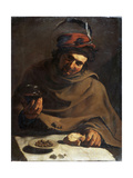 Breakfast, Early 17th Century Giclée-tryk af Bartolomeo Manfredi