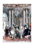 Reunion at the Mansion, 1849 Giclee Print by Adolph Menzel