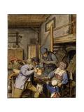 In a Tavern, 1677 Giclee Print by Adriaen Van Ostade