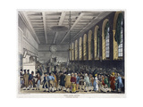 Interior of Custom House, London, 1808 Giclee Print by Augustus Charles Pugin