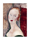 A Blond Woman (Portrait of Germaine Survag), 1918 Giclee Print by Amadeo Modigliani