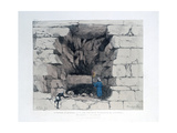 Forced Passage in the Second Pyramid of Ghizeh, Egypt, 1820 Giclee Print by Agostino Aglio