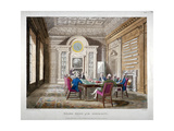 Boardroom of the Admiralty with a Meeting in Progress, Whitehall, Westminster, London, 1808 Giclee Print by Augustus Charles Pugin