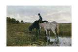 Watering Horses, 1871 Giclee Print by Anton Mauve