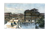 Yebisu Bashi, Osaka, Japan, 1891 Giclee Print by A Forsyth