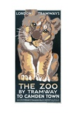 The Zoo by Tramway to Camden Town, London County Council (LC) Tramways Poster, 1930 Giclee Print by AK Mountain