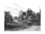 The Lower Ward, Windsor Castle, Berkshire, 1900 Giclee Print by A Railton