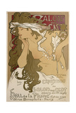 Poster for the Xxth Exposition in the Salon Des Cent, Paris, France, 1896 Giclee Print by Alphonse Mucha