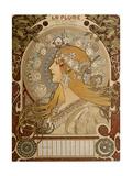 Zodiacal Calendar, 1897 Giclee Print by Alphonse Mucha