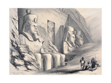 Exterior of the South Temple, Ebsamboul, Nubia, C1850 Giclee Print by Augustus Butler