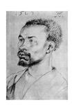Portrait of a Negro, 1508 Reproduction procédé giclée par Albrecht Durer