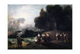 Calypso's Reception of Telemachus and Mentor, 1801 Giclee Print by Benjamin West
