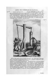 Hand Hydraulic Water Pump, 1678 Giclee Print by Athanasius Kircher