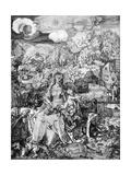 The Virgin and Many Animals, 1505 Reproduction procédé giclée par Albrecht Durer