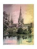 Lichfield Cathedral, Staffordshire, C1870 Giclee Print by Alfred Concanen