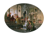 Ottoman Coffee House, 1858 Giclee Print by Amadeo Preziosi