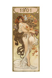 Calendar for the Year 1901, C1900 Giclee Print by Alphonse Mucha