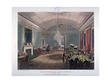 The Great Subscription Room, Interior of the Brooks's Club, St James's Street, London, 1808 Giclee Print by Augustus Charles Pugin